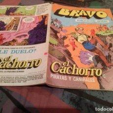 Tebeos: BRAVO Nº 57-EL CACHORRO - Nº 29- PIRATAS Y CANIBALES-BRUGUERA 1976. Lote 146547914
