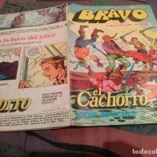 BDs: BRAVO- Nº 61 -EL CACHORRO- Nº 31- ACOSO IMPLACABLE - BRUGUERA 1976. Lote 146548242