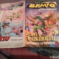 Tebeos: BRAVO-Nº 69 -EL CACHORRO- Nº 35 - EL TRIUNFO DE UN HÉROE - BRUGUERA 1976. Lote 146549166
