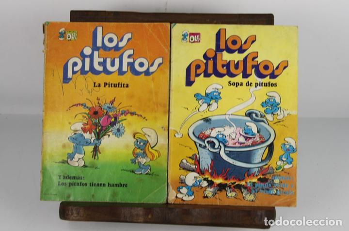 COLECCION DE 4 TÍTULOS DE LOS PITUFOS. COLECCION OLÉ. PEYO. EDIT. DIPUIS. AÑOS 70. (Tebeos y Comics - Bruguera - Ole)