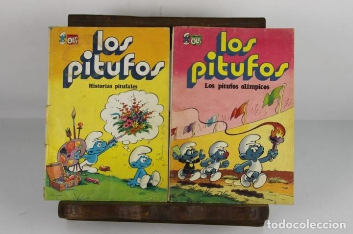 Tebeos: COLECCION DE 4 TÍTULOS DE LOS PITUFOS. COLECCION OLÉ. PEYO. EDIT. DIPUIS. AÑOS 70. - Foto 2 - 146992090