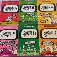 """Tebeos: LOTE """"FORGESCEDARIO"""" DE FORGES, 6 TOMOS, A + B + C + F + H + I, BRUGUERA, 1979 & 1980. Lote 147035056"""