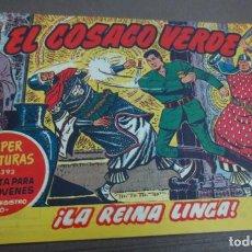 Tebeos: EL COSACO VERDE ¡LA REINA LINGA! Nº 393 Nº 38 EDITORIAL BRUGUERA AÑO 1961 ORIGINAL. Lote 147128806