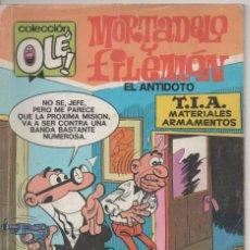 Tebeos: MORTADELO Y FILEMÓN EL ANTÍDOTO COLECCIÓN OLÉ EDICIONES B 1988. Lote 147508770