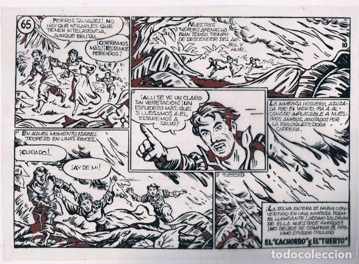 FOTOLITO PORTADA EL CACHORRO, CON UNA HOJA DE VIÑETAS (Tebeos y Comics - Bruguera - El Cachorro)