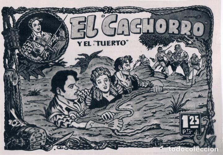Tebeos: FOTOLITO PORTADA EL CACHORRO, CON UNA HOJA DE VIÑETAS - Foto 2 - 148954670