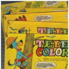 Tebeos: TELE COLOR. NÚMEROS 100,101,102,103,104 Y 105 TOTAL 6 EJEMPLARES.BUENOS.BRUGUERA,1965.. Lote 148965874