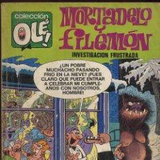 Tebeos: TEBERO - OLE - MORTADELO Y FILEMON - INVESTIGACION FRUSTRADA. Lote 149833614