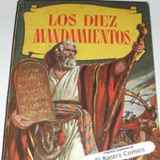 Tebeos: LOS DIEZ MANDAMIENTOS, COLECCION HISTORIAS Nº 115, ED BRUGUERA 1ª EDICIÓN 1960, ERCOM B7. Lote 150281290