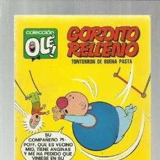 Giornalini: COLECCIÓN OLÉ 24: GORDITO RELLENO, 1971, BRUGUERA, PRIMERA EDICIÓN, MUY BUEN ESTADO. Lote 150894594