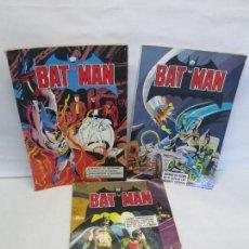 Tebeos: BAT MAN. 3 COMICS ALBUM Nº 3-4-6. EDITORIAL BRUGUERA. 1979/80. VER FOTOGRAFIAS. Lote 151448526