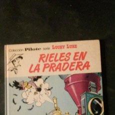 Tebeos: LUCKY LUKE-RIELES EN LA PRADERA-EDITORIAL BRUGUERA-1974-COLECCIÓN PILOTE-SERIE LUCKY LUKE Nº 39. Lote 151628738
