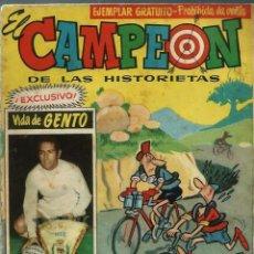 Tebeos: EL CAMPEON DE LAS HISTORIETAS Nº 56 - VIDA DE GENTO - BRUGUERA 1961. Lote 151647262