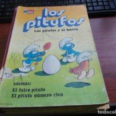 Tebeos: LOS PITUFOS Y EL HUEVO. ADEMÁS: EL FALSO PITUFO. EL PITUFO NÚMERO CIEN. Nº 5 BRUGUERA, MAL ESTADO VE. Lote 152468794
