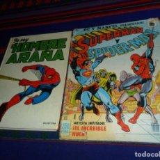 Tebeos: SUPERMAN Y SPIDERMAN CON HULK. BRUGUERA 1981. YO SOY EL HOMBRE ARAÑA. MONTENA 1980 BUEN ESTADO RAROS. Lote 152866666