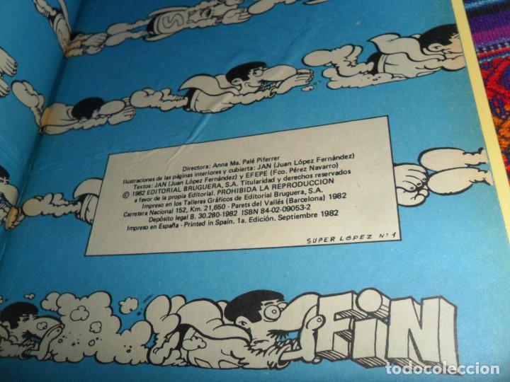 Tebeos: MUY RARO, SUPER HUMOR Nº 1 SUPERLOPEZ SUPER LOPEZ. JAN. BRUGUERA 1ª PRIMERA ED. SEPTIEMBRE 1982. BE. - Foto 2 - 152887470