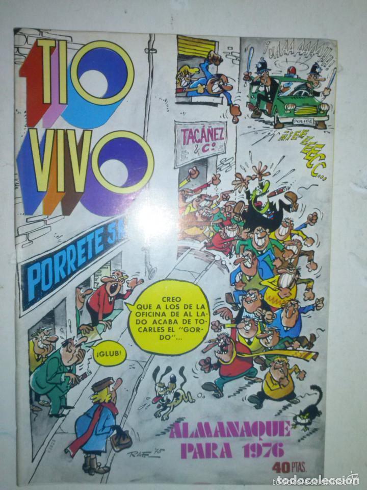 TÍO VIVO- ALMANAQUE PARA 1976- IBÁÑEZ- NORBERTO BUSCAGLIA-RAF-SEGURA-CASI FLAMANTE-DIFÍCIL-4543 (Tebeos y Comics - Bruguera - Tio Vivo)