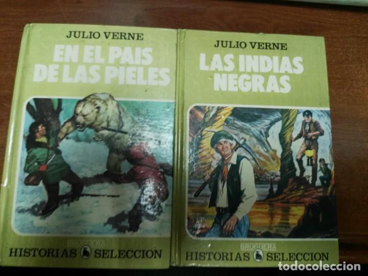 HISTORIAS SELECCION SERIE JULIO VERNE LAS INDIAS NEGRAS Y EN EL PAIS DE LAS PIELES. BRUGUERA 1985 (Tebeos y Comics - Bruguera - Historias Selección)