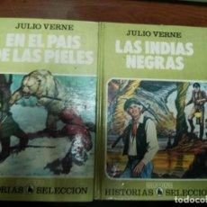 Tebeos: HISTORIAS SELECCION SERIE JULIO VERNE LAS INDIAS NEGRAS Y EN EL PAIS DE LAS PIELES. BRUGUERA 1985. Lote 153462662