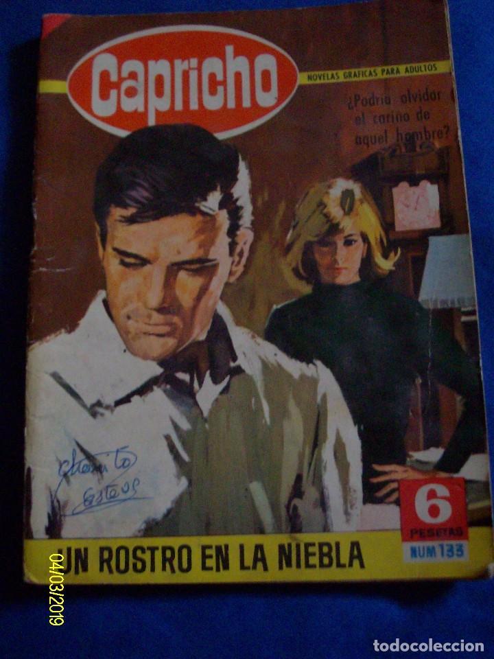 CAPRICHO Nº 133 UN ROSTRO EN LA NIEBLA NOVELAS GRAFICAS BRUGUERA (Comics und Tebeos - Bruguera - Andere Bruguera)