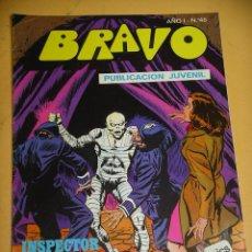 Tebeos: BRAVO Nº 46. INSPECTOR DAN 23, ED. BRUGUERA, AÑO 1976, ERCOM B8. Lote 153722494