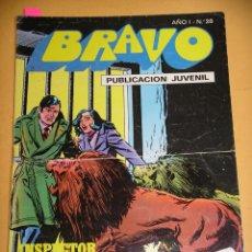 Tebeos: BRAVO Nº 28. INSPECTOR DAN 14, ED. BRUGUERA, AÑO 1976, ERCOM B8. Lote 153723230
