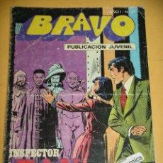 Tebeos: BRAVO Nº 24. INSPECTOR DAN 12, ED. BRUGUERA, AÑO 1976, ERCOM B8. Lote 153723774