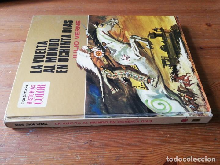 Tebeos: Colección Historias Color número 3. La vuelta al mundo en ochenta días. Julio Verne. - Foto 3 - 153811554