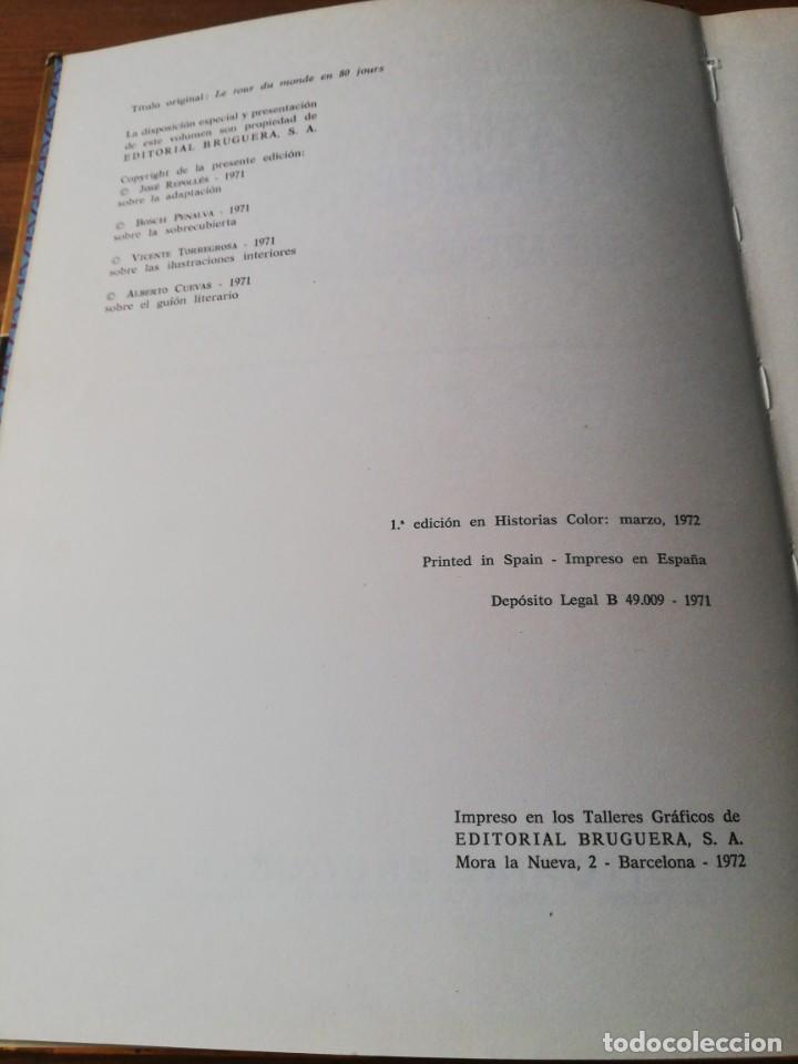 Tebeos: Colección Historias Color número 3. La vuelta al mundo en ochenta días. Julio Verne. - Foto 4 - 153811554