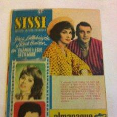 Tebeos: SISSI - ALMANAQUE 1962- LOMO ENCOLADO. Lote 154478034