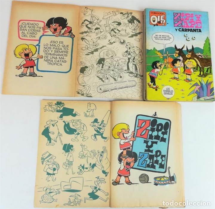 Tebeos: 8 REVISTAS ZIPI Y ZAPE. JOSÉ ESCOBAR. EDITORIAL BRUGUERA. S.A. BARCELONA 1980 - Foto 3 - 155546118