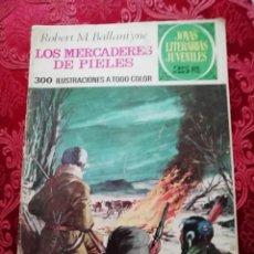 Tebeos: JOYAS LITERARIAS LOS MERCADERES DE PIELES NUMERO 86 1877. Lote 155790978