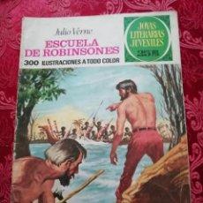 Tebeos: ESCUELA DE ROBINSONES JOYAS LITERARIAS JULIO VERNE Nº 108 1977. Lote 155791090