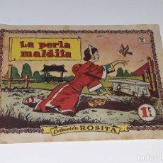 Tebeos: ANTIGUO COMIC COLECCION ROSITA Nº 72 - LA PERLA MALDITA - ED. BRUGUERA AÑO 1953. Lote 155928802