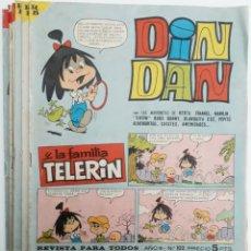 Tebeos: DIN DAN Y LA FAMILIA TELERIN AÑO III - 1967 ( 6 EJEMPLARES) VER RELACIÓN. Lote 155968482