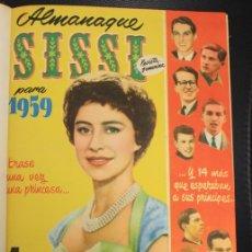 Tebeos: SISSI. NUM. 11 AL 49 + ALMANAQUE PARA 1959. ENCUADERNADOS EN TOMO. Lote 156059420