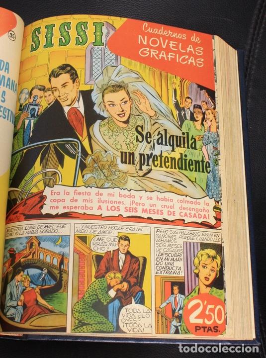 Tebeos: SISSI SELECCION DE NOVELAS GRAFICAS. NUM. 1-6 Y 31 AL 58. ENCUADERNADOS EN TOMO - Foto 2 - 156062748