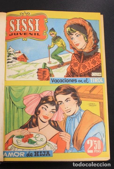 SISSI JUVENIL. NUM. 76 AL 93 - DEL 96 AL 103 + ALMANAQUE PARA 1961. ENCUADERNADOS EN TOMO (Tebeos y Comics - Bruguera - Sissi)