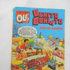 Tebeos: COLECCIÓN OLÉ! - BENITO BONIATO - DÍA DE ASUETO - ED. BRUGUERA - Nº 5 - 1ª EDICIÓN - 1984.. Lote 156337962