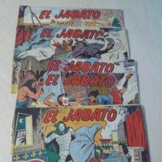 Tebeos: LOTE 5 TEBEOS COMICS EDITORIAL BRUGUERA EL JABATO ORIGINAL . Lote 156803482