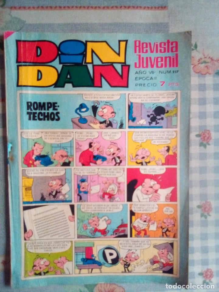DIN DAN- Nº 257 -1973 -MICHEL TANGUY-AQUILES TALÓN-CINE LOCURAS-RUPERTO-BUENO-DIFÍCIL-LEAN-3307 (Tebeos y Comics - Bruguera - Din Dan)