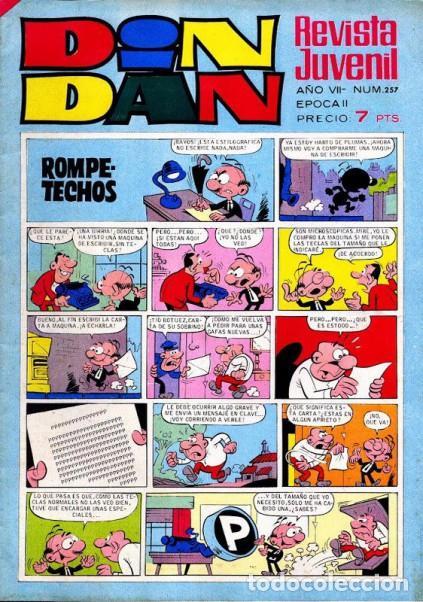 Tebeos: DIN DAN- Nº 257 -1973 -MICHEL TANGUY-AQUILES TALÓN-CINE LOCURAS-RUPERTO-BUENO-DIFÍCIL-LEAN-3307 - Foto 4 - 199620236