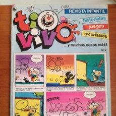 Tebeos: TIO VIVO Nº 2 HISTORIETAS RECORTABLES JUEGOS NUEVO 1986 BRUGUERA. Lote 158049626