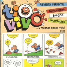 Tebeos: TIO VIVO Nº 22 HISTORIETAS RECORTABLES JUEGOS NUEVO 1986 BRUGUERA. Lote 158084950