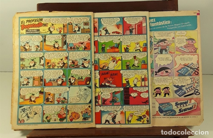 Tebeos: REVISTA JUVENIL. PULGARCITO. 17 EJEMP. EDIT. BRUGUERA. BARCELONA. 1958/1974. - Foto 8 - 158414702