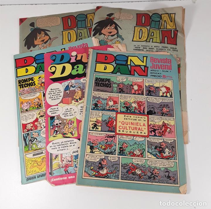 REVISTA JUVENIL DIN DAN. 5 EJEMPLARES. EDIT. BRUGUERA. BARCELONA. 1965/1974. (Tebeos y Comics - Bruguera - Din Dan)