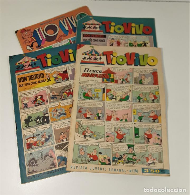 REVISTA JUVENIL TIO VIVO. 4 EJEMPLARES. EDIT. BRUGUERA. BARCELONA. 1958. (Tebeos y Comics - Bruguera - Tio Vivo)