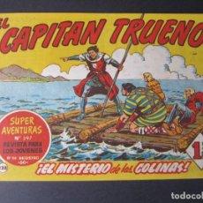 Tebeos: CAPITAN TRUENO, EL (1956, BRUGUERA) 228 · 13-II-1961 · EL MISTERIO DE LAS COLINAS. Lote 159259246