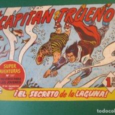 Tebeos: CAPITAN TRUENO, EL (1956, BRUGUERA) 208 · 26-IX-1960 · EL SECRETO DE LA LAGUNA. Lote 159399358