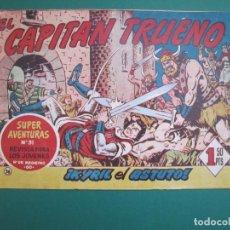 Tebeos: CAPITAN TRUENO, EL (1956, BRUGUERA) 76 · 17-III-1958 · KYRIL EL ASTUTO. Lote 159663558